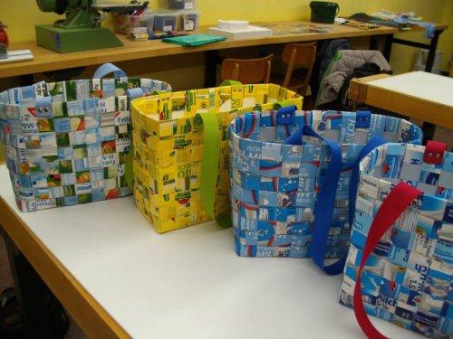 Shoppingbags aus Tetra-Packs